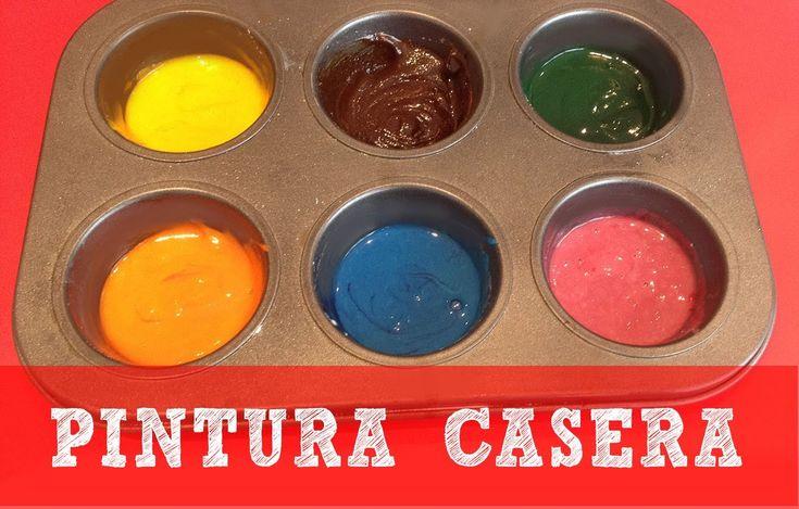 Cómo hacer pintura casera para niños   Manualidades Fáciles