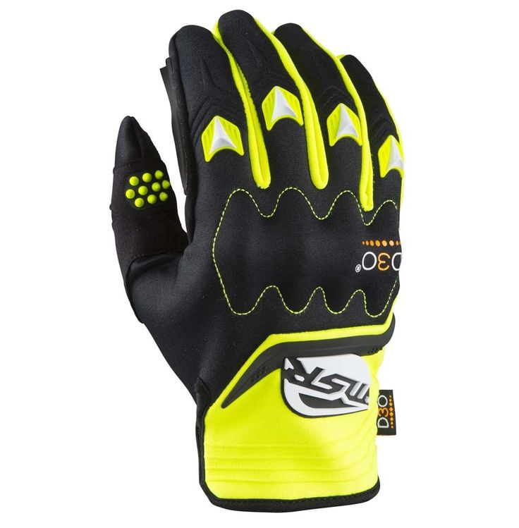 New MSR MUD PRO GLOVE YELLOW BLACK Motorcycle