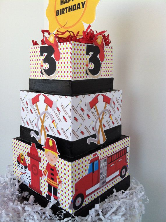 Fireman Birthday Centerpiece