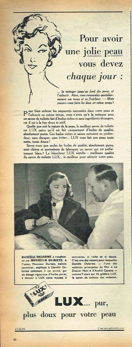 0 daniele delorme french actress ad for lux soap in 1955