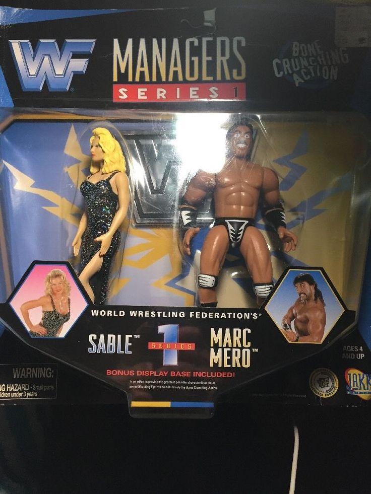 WWF WWE Classic Bone Crunching Superstars Managers Sable Rena & Marc Mero Jakks #JAKKSPacific