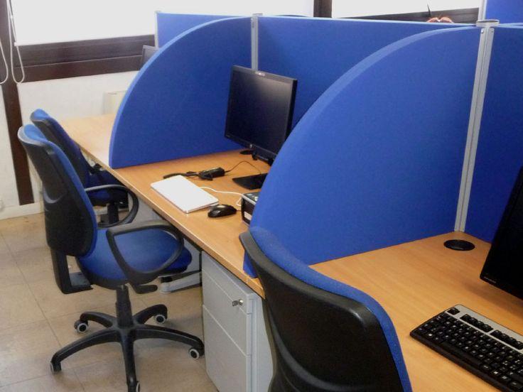 """Linea ZIPSOUND 02 """"desk"""" - Pannelli divisori, pareti mobili, separè su ruote, schermi flessibili, progettazione, produzione e vendita - Clipper System"""