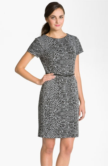 Calvin Klein Animal Print Ponte Knit Sheath Dress | Nordstrom.... LOVE Calvin Klein dresses!!!!