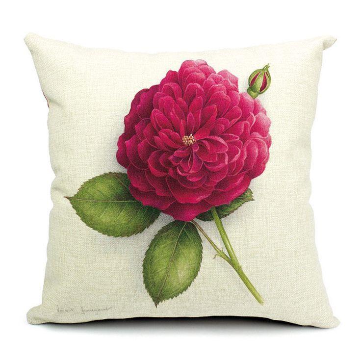 Fashion Home Decor Cotton Linen Throw Pillow Case Fox Sofa Waist Cushion Cover | eBay