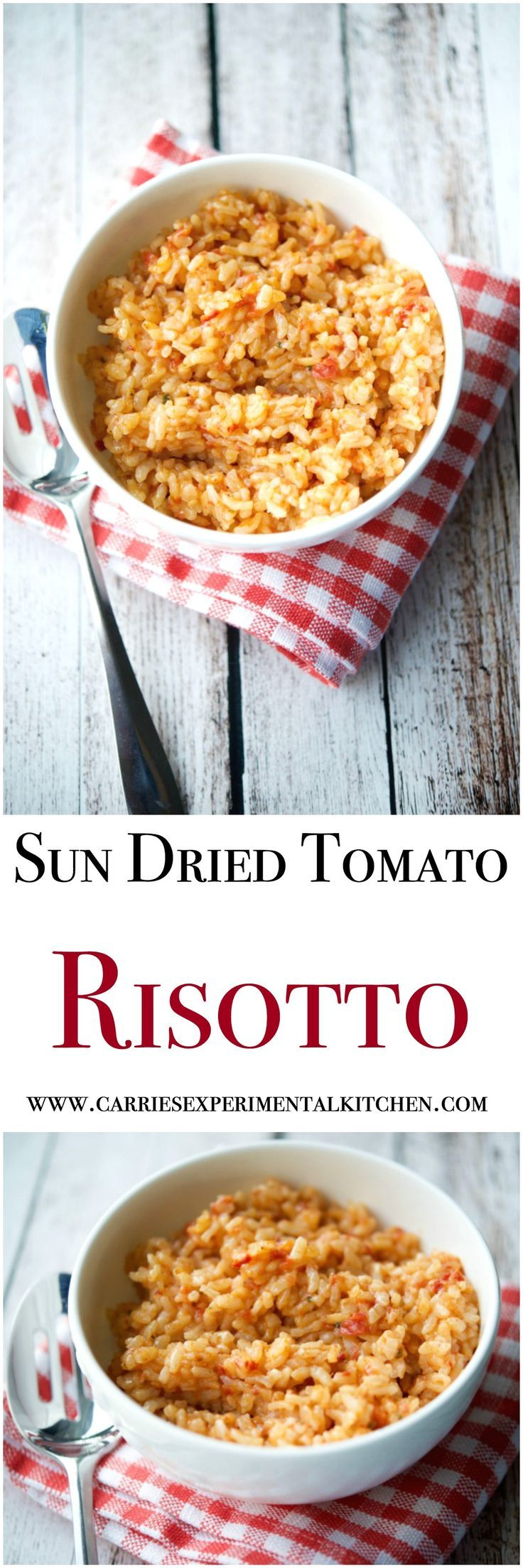 Tomato risotto, Sun dried tomatoes and Risotto on Pinterest