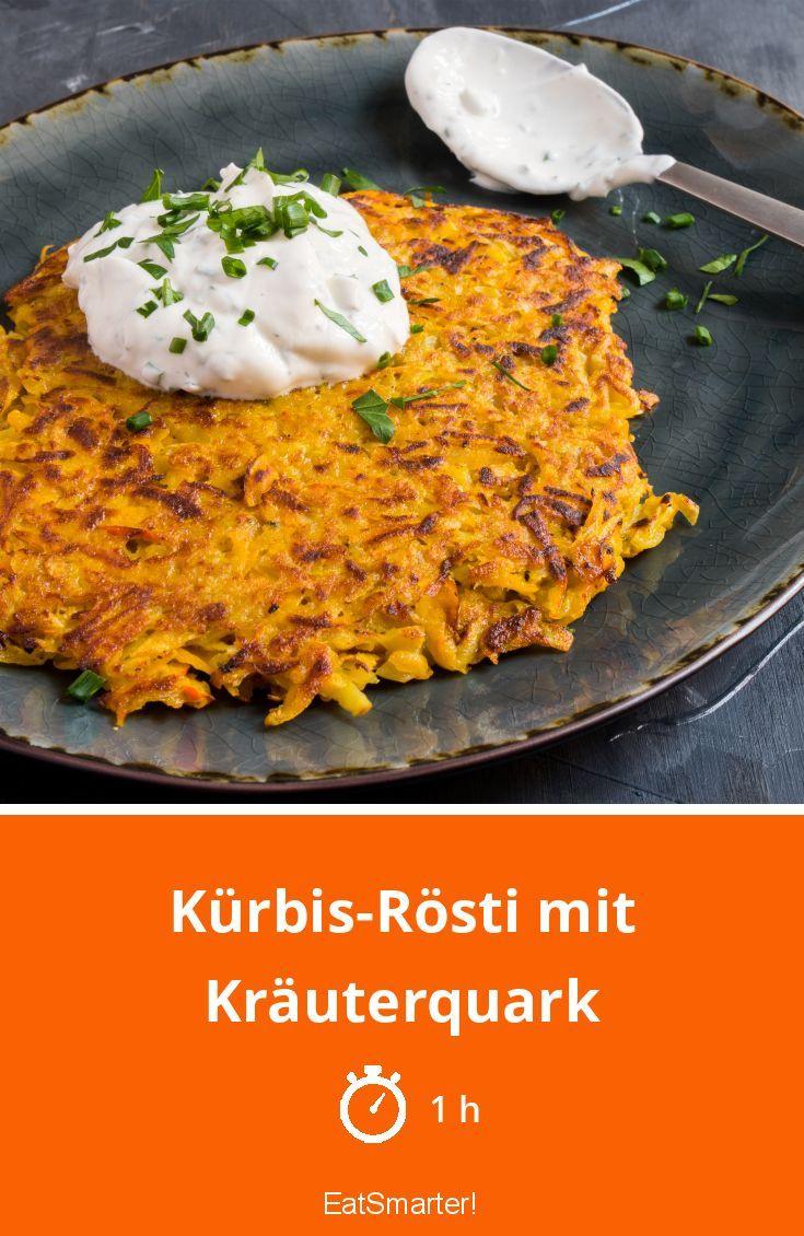 Kürbis-Rösti mit Kräuterquark