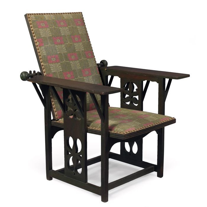 Rare Arts U0026 Crafts Morris Chair, Designed And Manufactured By David Kendall  For Phoenix Chair Part 63