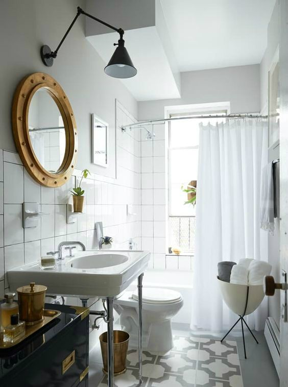 Most rentals have outdated fixtures in its bath area, and it's not that hard to update them and keep up with the trend.