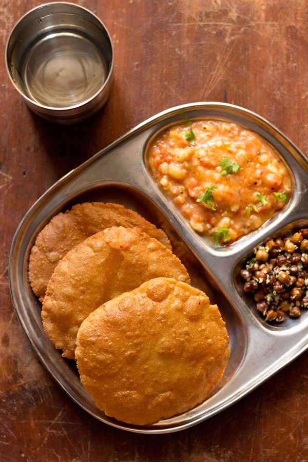Singhare Ki Poori – fried bread made from water chestnut flour and potatoes. made during fasting occasions in india.