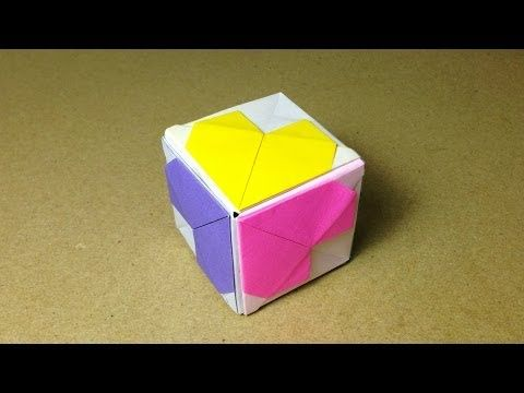 How to make an Origami Heart Cube / Instructions / Tutorial - YouTube