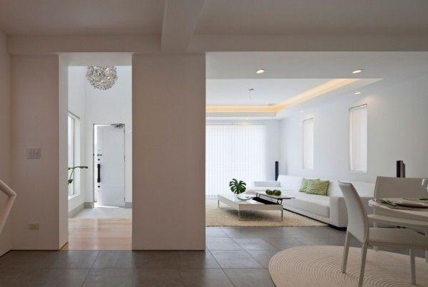 Main Room Ideas from White Modern Interior Design by RCK Design in Tokyo 600x402 White Modern Interior Design by RCK Design in Tokyo