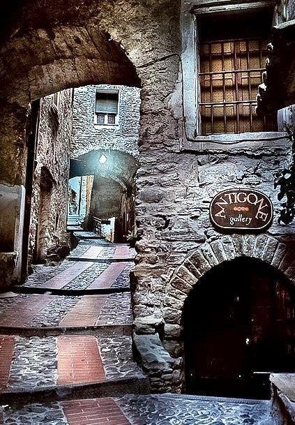 Medieval village of Dolceacqua, Italy.