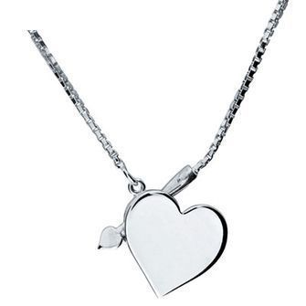 Buy our Australian made Amours silver heart necklace - BEE-35040 online. Explore our range of custom made chain jewellery, rings, pendants, earrings and charms.