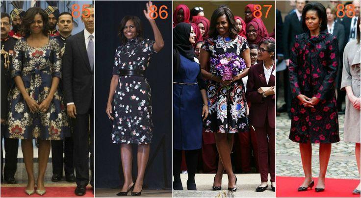 michelle obama ciemne kwiaty