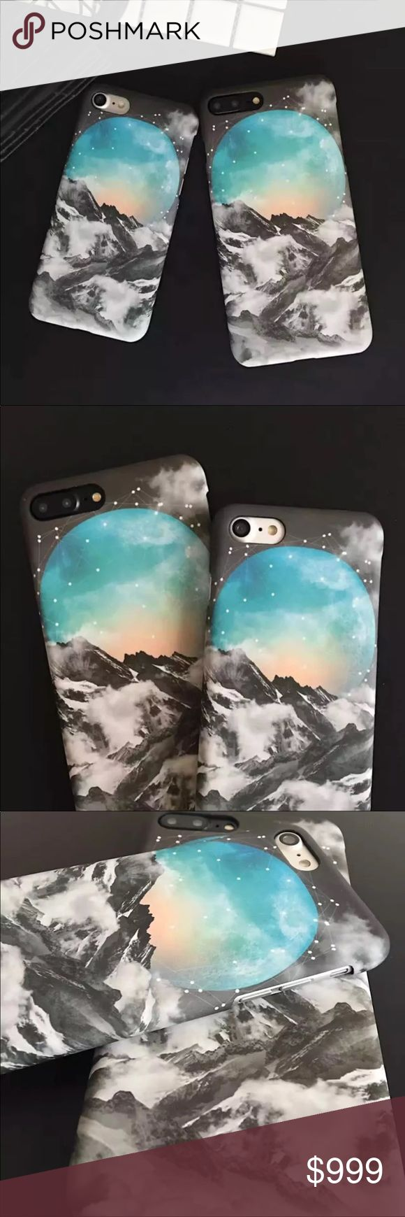 COMING SOON iPhone 7+/8+ Mountain Moon Hard Case **COMING SOON - LIKE THIS LISTING TO BE NOTIFIED**  ▪️New In Package , 7 Plus/8 Plus  ▪️Sturdy Hard PC, Matte Print With Soft Velvety Finish    ▪️Same or Next Business Day Shipping Accessories Phone Cases