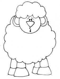 Riscos de ovelhinhas e hipopótamos - Desenhos e Riscos-desenhos-colorir-colorear-riscos para pintar-dibujos-coloring pages