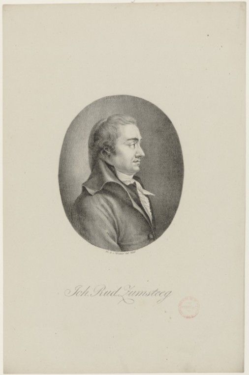 Johann Rudolf Zumsteeg (1760-1802), lithograph (1816), by Heinrich Winter (1788-1825) [after an engraving (1799), drawn by Franz Karl Hiemer (1768-1822), engraved by Christian Friedrich Stölzel (1751-1816)], published in Portraite der berühmtesten Compositeurs der Tonkunst, plate 44.