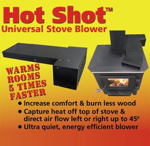 Use a wood stove blower to heat your room faster and burn less wood!
