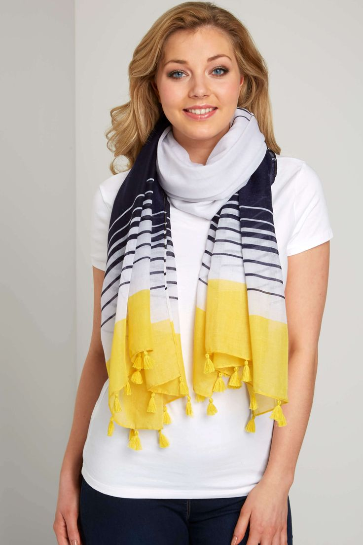 Stripe Tassel Scarf - Free UK Delivery - ONE - - Romanoriginals.co.uk