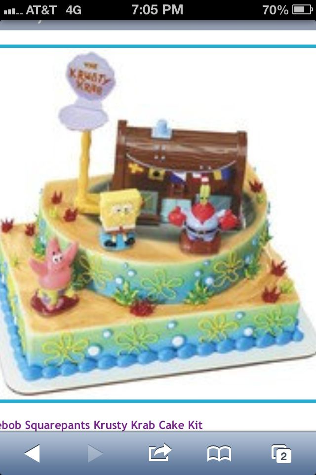 Spongebob Cake From Walmart Birthdays Pinterest