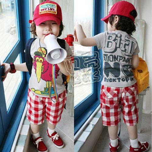 Aliexpress.com : Buy 2014 summer boys clothing girls clothing child short sleeve T shirt trousers set tz 0099 on Kids Fashion Clothing - Wor...