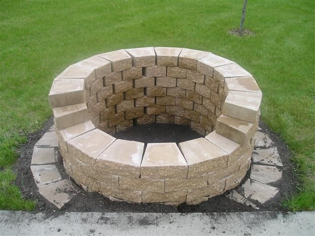 Project yourself outdoor fireplace outdoor stone fire for Fire pit project