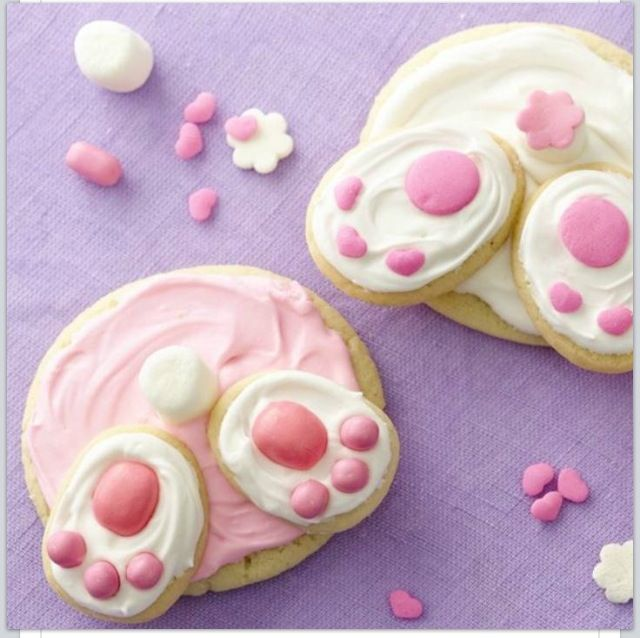 Cute bunny cookie idea