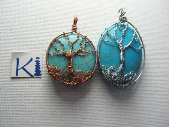 Turquoise Tree of Life Pendant by KiCrystalCreations on Etsy