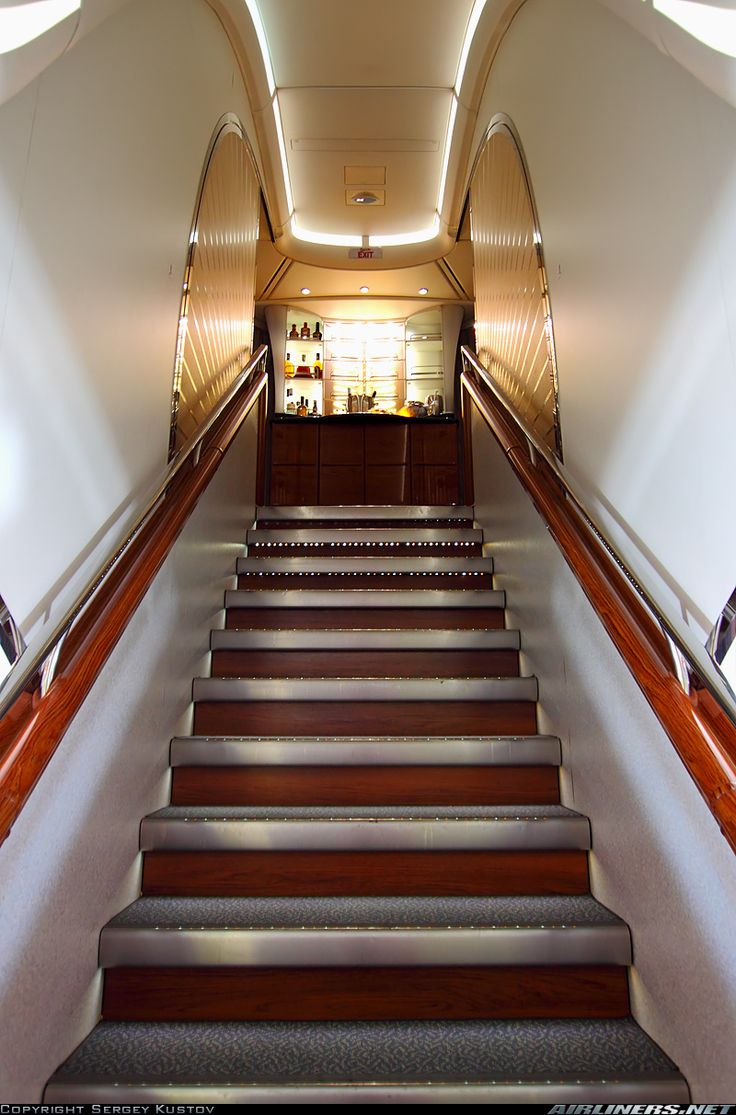 Airbus A380861 Stairs to Heaven. The front staircase of