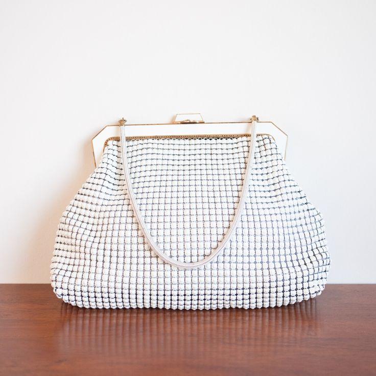 1960s 'Snow Glow' white metal mesh handbag by Oroton - I've got one of these :)
