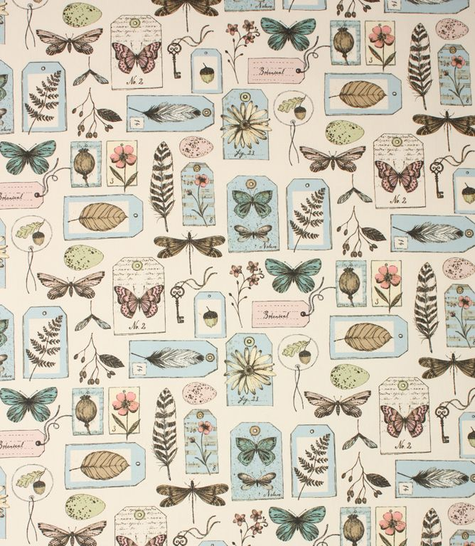 Butterfly fabric, duck eggs, botanical fabric http://www.justfabrics.co.uk/curtain-fabric-upholstery/mineral-wildlife-fabric/