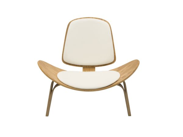 SHELL WOODEN CHAIR - WHITE/Wood I Newell Furniture