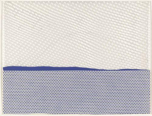 Roy LichtensteinSeascape I (New York Ten, 1964, published 1965)
