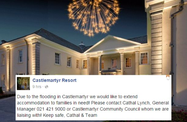 This luxury Cork hotel made a wonderful gesture to locals affected by flooding #luxuryhomes