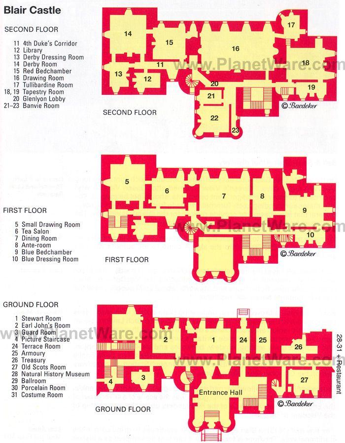 Blair Castle Floor Plan Map Linna Pinterest Floors