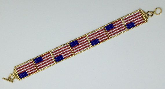 142 best bead patriotic images on pinterest bead for Patriotic beaded jewelry patterns