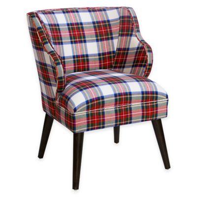 skyline furniture wesley plaid chair