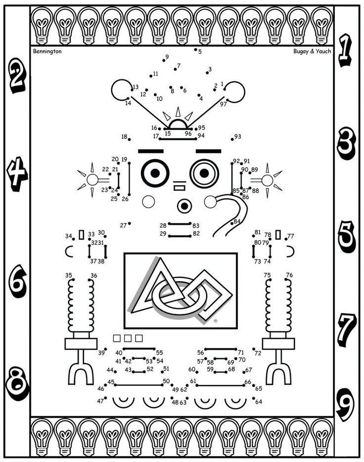 fun activity worksheets for kids robot