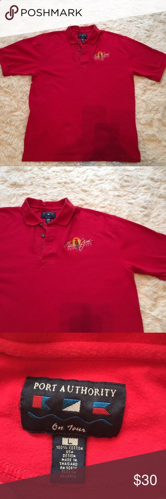 Golf Shirts - Maui Jim golf shirt Maui Jim red golf shirt/100% cotton Shirts