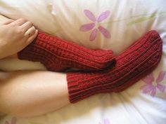 Patrón calcetín dos agujas en español