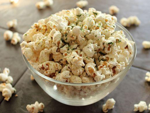 nori popcorn with sesame oil, nori goma furikake, ichimi togarashi ...