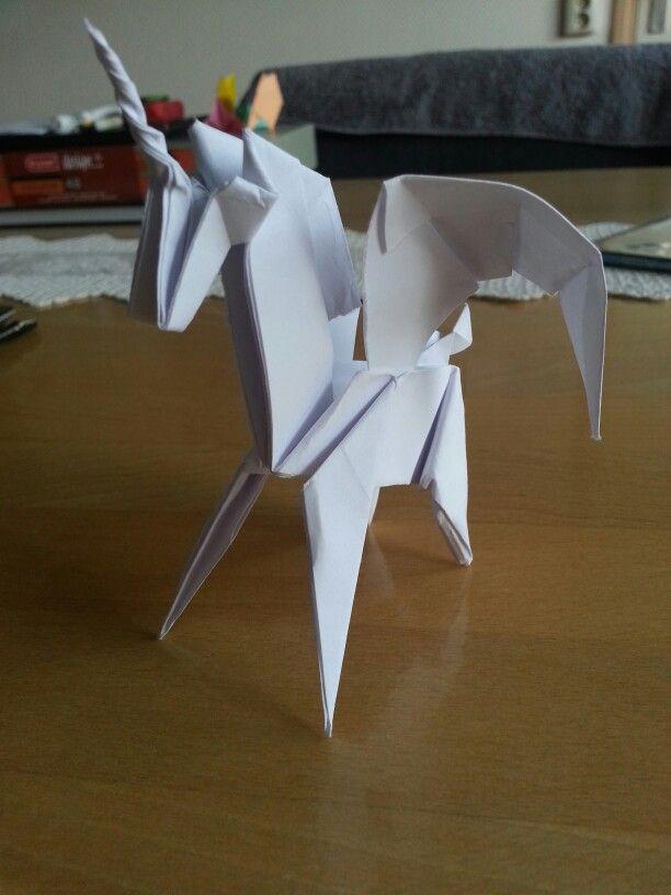 easy origami pegasus instructions