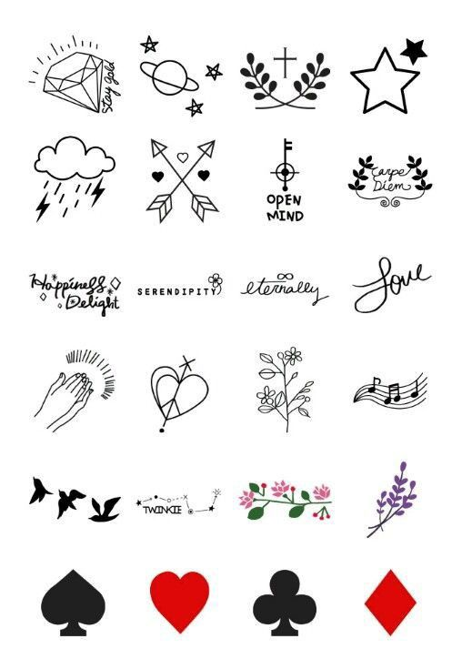 Pin By Rhomielynkayte Figuron On Outfits Simple Tattoo Designs