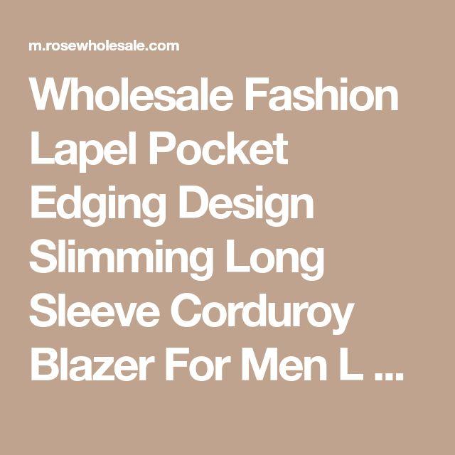 Wholesale Fashion Lapel Pocket Edging Design Slimming Long Sleeve Corduroy Blazer For Men L Purple Online. Cheap Long Sleeve Dress For Women And Purple Long Sleeve Mini Dress on Rosewholesale.com