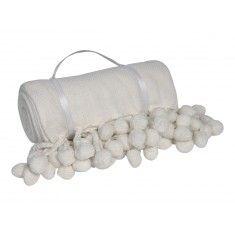 Pom Pom Throw in White