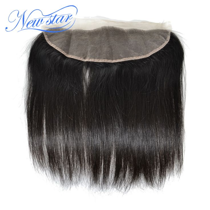 New Star team natural color Virgin Hair straight free style lace frontal wholesale 13*4  PU around the perimeter frontals
