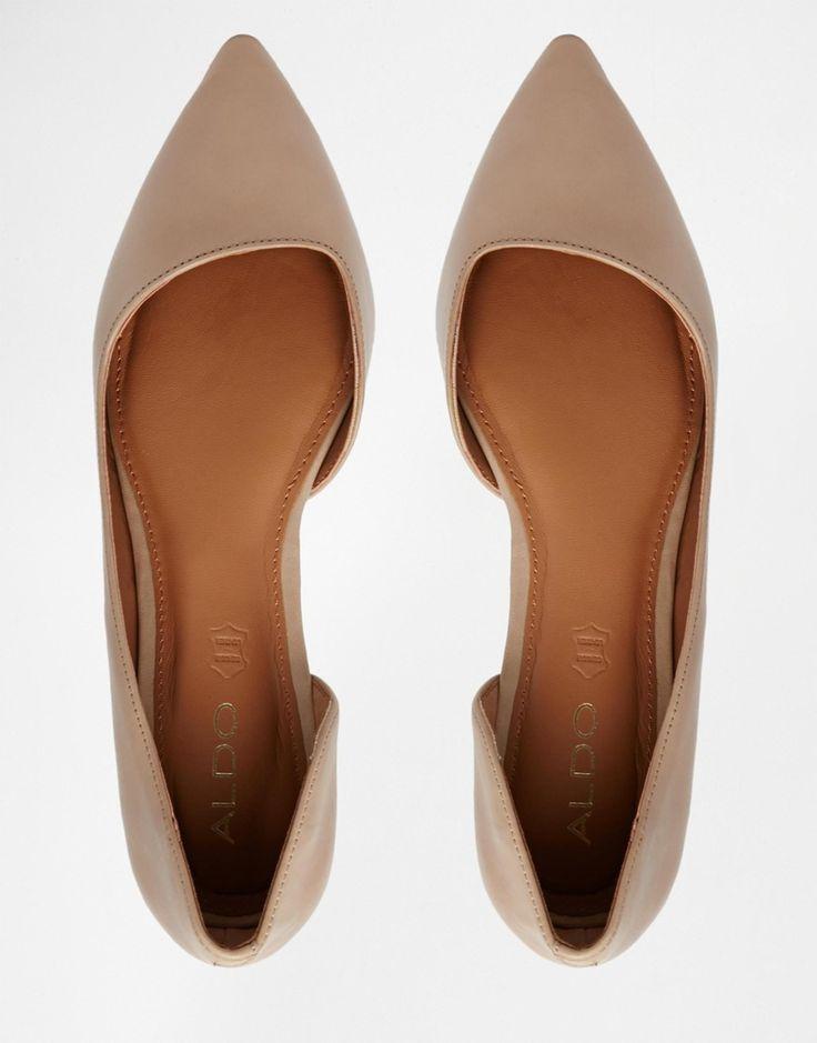 ALDO Dealia Nude Pointed Flat Shoes - $49.00
