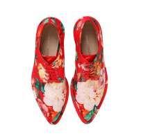 Scarpe stringate a punta con stampa floreale Simone Rocha