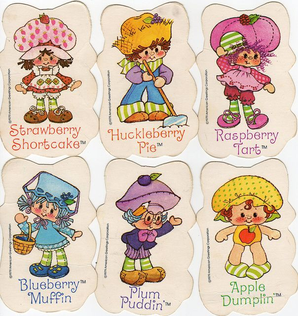 Strawberry+Shortcake+Characters+1980s | Strawberry Shortcake Vintage Card Game (by Ursala Erdbeer )