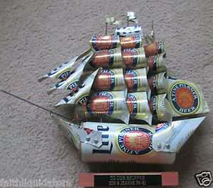 beer can art | ... -ALPINE-PILSNER-BEER-CAN-SAIL-BOAT-PIRATE-TALL-SHIP-NAUTICAL-FOLK-ART